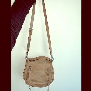 Rebecca minkoff taupe crossbody bag